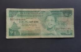 RS - Ethiopia 1 Birr Banknote 1991 #DU7494160 - Etiopia