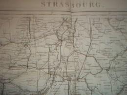 Carte De Strasbourg Au 1/320000 , Feuille 15 Levée Par Les Officiers Du Corps D'état Major - Mapas Topográficas