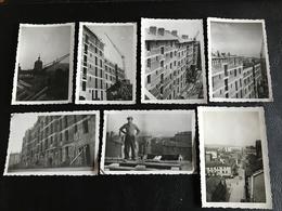 Lot De PHOTOS - 1933 - Construction D'immeuble LYON 1er (?)  Vue Eglise St Bruno Des Chartreux & Fourviere - Places