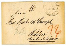 1829 Portobrief Frankfurt - Wohlen/Schweiz Mit Inhalt - Deutschland