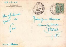 Lettre, Carte, Conseil De L Europe Strasbourg 1949      (etat Voir Photos) - Poststempel (Briefe)