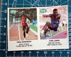 LEWIS - KIPKOECH ATLETICA SORRISI E CANZONI 1987 ADESIVO  STICKER    NEW  FIGURINA - Stickers