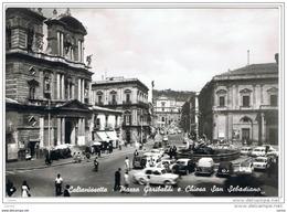 CALTANISSETTA:  PIAZZA  GARIBALDI  E  CHIESA  S. SEBASTIANO  -  FOTO  -  FG - Caltanissetta