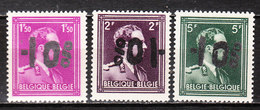 724B/F**  Leopold III Col Ouvert Surchargé -10% - HAMOIR - Série Complète - MNH** - LOOK!!!! - 1946 -10%