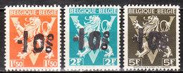 724G/I**  Lion Héraldique Surchargé -10% - Série Complète - HAMOIR - MNH** - LOOK!!!! - 1946 -10%