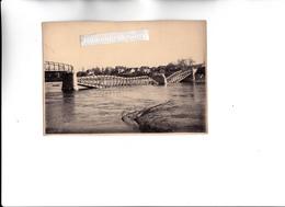 PHOTO - 77 - CHARTRETTES - MILITARIA - Le Pont Détruit Par Les Bombardements De La Guerre 1939-1945 - 17cm Sur 12 - Places