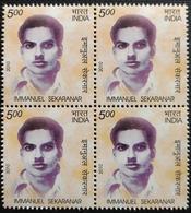 141.india 2010 Stamp Immanuel Sekaranar Block Of 4  . Mnh - Blocks & Kleinbögen