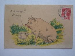 Thèmes > Humour Humoristique Cochon A La Tienne Etienne - Humor