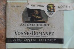 ETIQUETTE VOSNE - ROMANEE 1964 ANTONIN RODET - Bourgogne