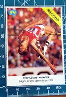 STEFKA KOSTADINOVA ATLETICA SORRISI E CANZONI 1987 ADESIVO  STICKER    NEW  FIGURINA - Stickers