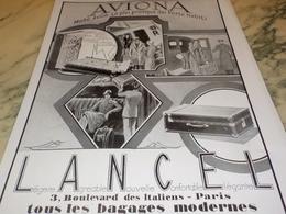 ANCIENNE PUBLICITE AVIONA MALLE AVION DE LANCEL 1928 - Vervoer