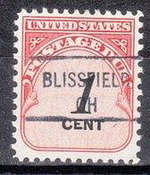 USA Precancel Vorausentwertung Preo, Locals Ohio, Blissfield 841 - Vereinigte Staaten
