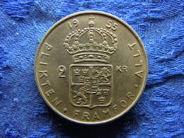 SWEDEN 2 KRONOR 1955, KM827 - Suède