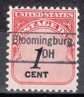 USA Precancel Vorausentwertung Preo, Locals Ohio, Bloomingburg 843 - Vereinigte Staaten