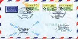 Germany Air Mail Cover Lufthansa Flight LH 5468 F 50 München - Genua 30-3-1992 - [7] Repubblica Federale