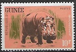 GUINEE     -   1962.    Y&T N°105 *.    .Hippopotame - Guinea (1958-...)