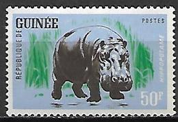 GUINEE     -   1962.    Y&T N°108 * . Hippopotame - Guinea (1958-...)