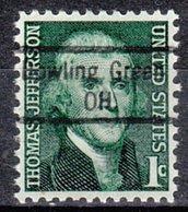 USA Precancel Vorausentwertung Preo, Locals Ohio, Bowling Green 843 - Vereinigte Staaten