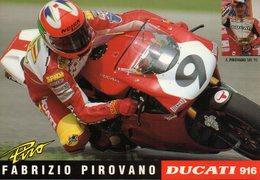 MOTO - MOTOCICLISMO - SBK 1995 - FABRIZIO PIROVANO - DUCATI 916 - N 4/122 - Sport Moto