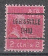 USA Precancel Vorausentwertung Preo, Locals Ohio, Brecksville 722 - Vereinigte Staaten