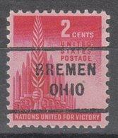 USA Precancel Vorausentwertung Preo, Locals Ohio, Bremen 712 - Vereinigte Staaten