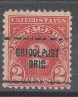 USA Precancel Vorausentwertung Preo, Locals Ohio, Bridgeport J71-704 - Vereinigte Staaten