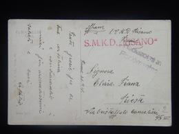 2 Austria WWI KuK K.u.K. Marine SMS Kriegsmarine Ship Schiff Stamp Stampel S.M.K.D. SMKD RISANO S M Dampfer Fiume 1918 - Guerre