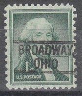 USA Precancel Vorausentwertung Preo, Locals Ohio, Broadway 802 - Vereinigte Staaten