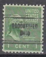 USA Precancel Vorausentwertung Preo, Locals Ohio, Brookfield 704 - Vereinigte Staaten