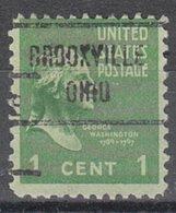 USA Precancel Vorausentwertung Preo, Locals Ohio, Brookville 721 - Vereinigte Staaten