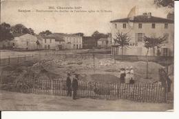 CPA 17 SAUJON. EMPLACEMENT DES FOUILLES DE L'ANCIENNE EGLISE DE ST MARTIN - Saujon