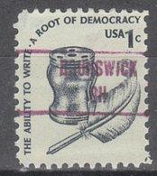 USA Precancel Vorausentwertung Preo, Locals Ohio, Brunswick 853 - Vereinigte Staaten