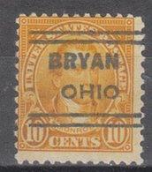 USA Precancel Vorausentwertung Preo, Locals Ohio, Bryan 642-631 - Vereinigte Staaten