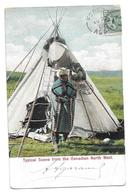 CANADA  -  Chef  Indien  -  Voir Photo -  TYPICAL  SCENE  FROM THE  CANADIAN  NORTH  WEST - Non Classés