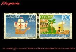AMERICA. COLOMBIA MINT. 1991 EMISIÓN AMÉRICA UPAEP. V CENTENARIO DESCUBRIMIENTO DE AMÉRICA - Kolumbien