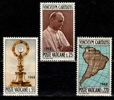 VATICAN 479/481° 39ème Congrès Eucharistique International (10% De La Cote + 0,25) - Vatican