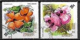 GUINEE   -   Aéros   -  1974.  Y&T N° 107 à 108 Oblitérés.  Fleurs - Guinea (1958-...)