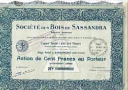 COTE D'IVOIRE-BOIS DE SASSANDRA. STE DES ... SASSANDRA - Acciones & Títulos