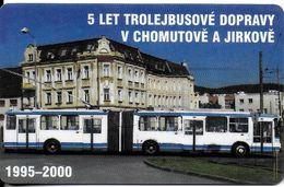 CARTE A PUCE TRANSPORT TCHÉQUIE  AUTOCAR TRAMWAY TROLLEYBUS 1995 - 2000 - Transportation Tickets