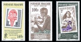 POLYNESIE 2008 - Yv. 858 859 Et 860 NEUF   Faciale= 2,56 EUR - Ann. 1ère émission De Timbres (3 Val.)  ..Réf.POL24843 - Polinesia Francesa