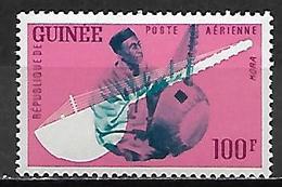 GUINEE   -   Aéros   -  1962  .Y&T N° 19 * .  Instrument De Musique  /   Kora. - Guinea (1958-...)
