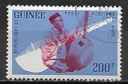 GUINEE   -   Aéros   -  1962  .Y&T N° 20 Oblitéré .  Instrument De Musique  /   Kora. - Guinea (1958-...)
