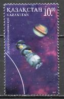 Kazakhstan - Kasachstan 1997 Y&T N°144 - Michel N°2164 (o) - 10t Engin Spatiale Et Saturne - Kazachstan
