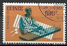 GUINEE   -   Aéros   -  1962  .Y&T N° 21 Oblitéré .  Instrument De Musique  /   Balafon. - Guinea (1958-...)