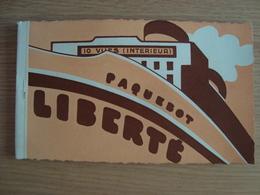 CARNET DE 10 CP PAQUEBOT LIBERTE - Piroscafi