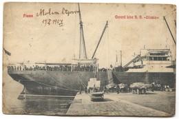 S.S. ULTONIA - CUNARD OCEAN LINE, STEAMER DAMPFER, PORT RIJEKA CROATIA, Year 1907 - Paquebots