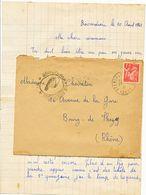 ISERE LAC 1941 ST LAURENT DU PONT 22/02/1941 INFIRMIER CHANTIER DE JEUNESSE LA BREVARDIERE10° GPT LA CHARTREUSE PAR ST L - 1921-1960: Modern Period