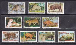 Nicaragua 1974 Wild Animals Fauna Set Of 10v MNH - Ohne Zuordnung