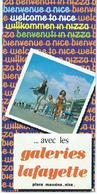 Tourism Brochures - Bienvenue A Nice / France ...avec Les Galeries Lafayette,Map - Tourism Brochures