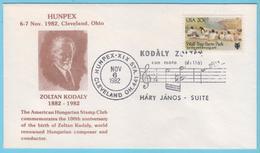 J.M. 40 - Etats Unis - Oblitération -  N° 55 - Compositeur - Kodaly - Partition - Oeuvre - Musique